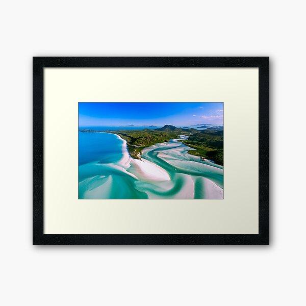 Hill Inlet - Whitsundays Queensland, Australia Framed Art Print