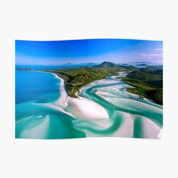 Hill Inlet - Whitsundays Queensland, Australia Poster