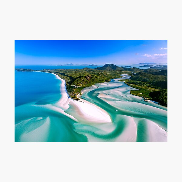 Hill Inlet - Whitsundays Queensland, Australia Photographic Print