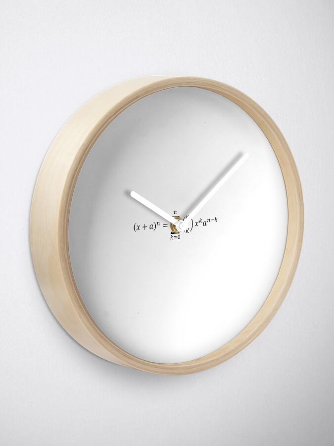 Alternate view of (x+a)^n Clock
