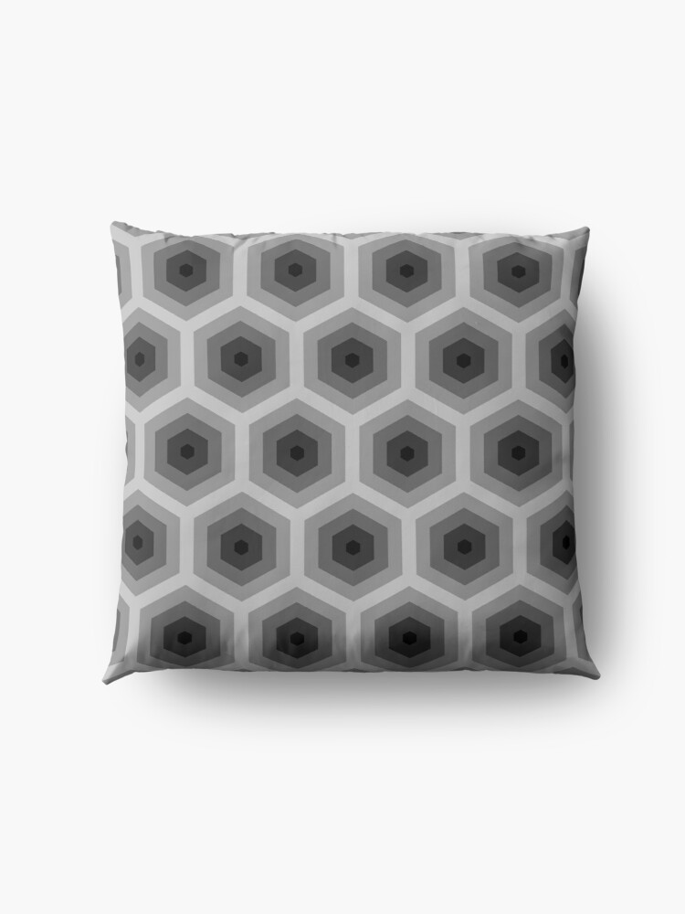 Alternate view of Geometric Pattern: Hexagon: Grey Floor Pillow