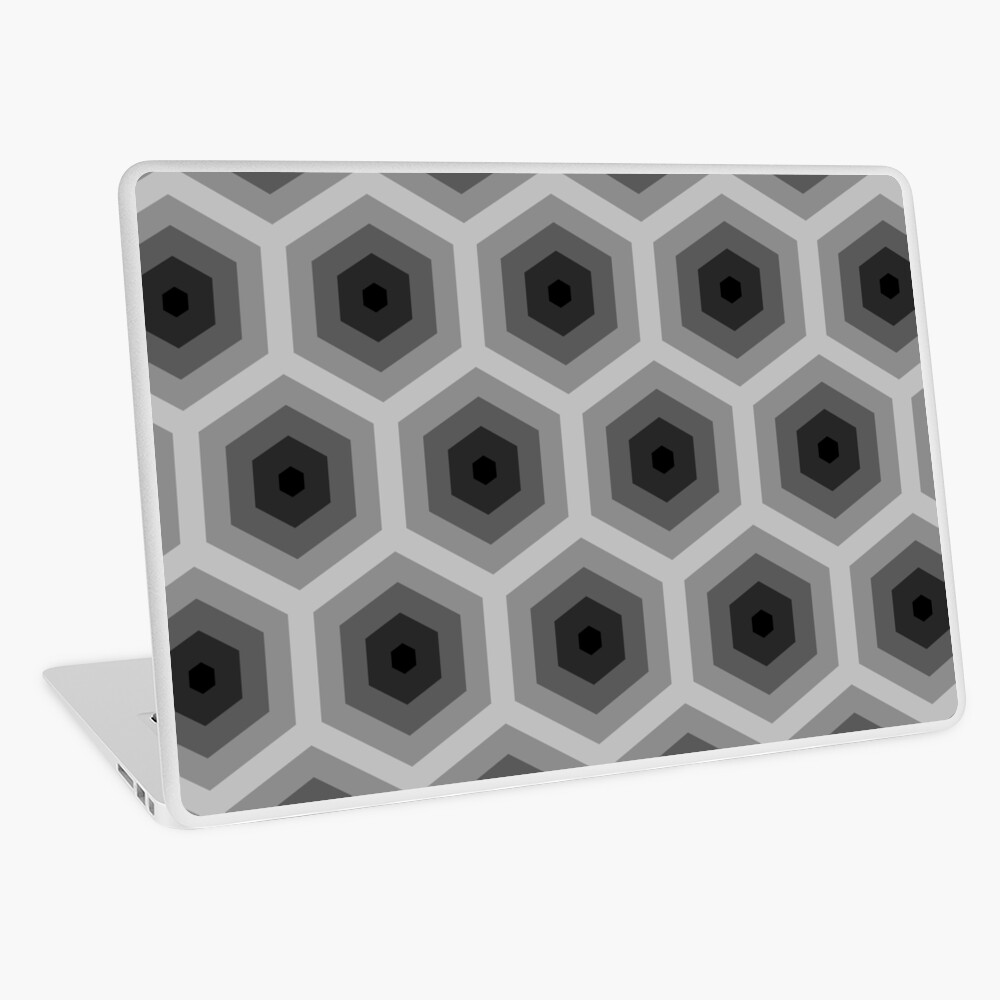 Geometric Pattern: Hexagon: Grey Laptop Skin