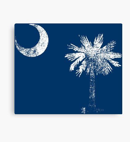 South Carolina Vintage Distressed Flag Canvas Print
