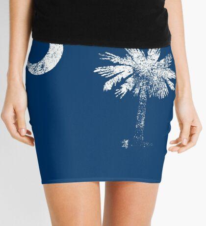 South Carolina Vintage Distressed Flag Mini Skirt