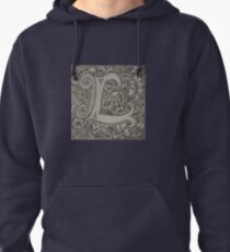 Letter L by Laura Jaen Pullover Hoodie