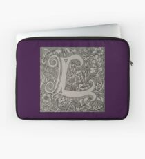 Letter L by Laura Jaen Laptop Sleeve