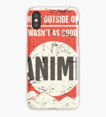 Funny Vintage Japanese Anime Poster iPhone Case/Skin