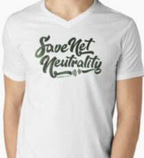 Save Net Neutrality V-Neck T-Shirt