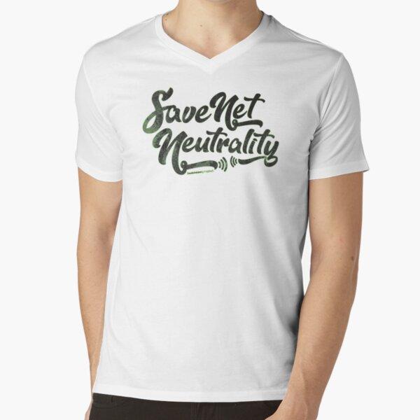 Save Net Neutrality V-Neck T-Shirt