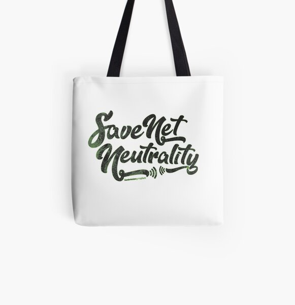 Save Net Neutrality All Over Print Tote Bag