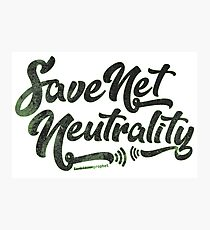 Save Net Neutrality Photographic Print