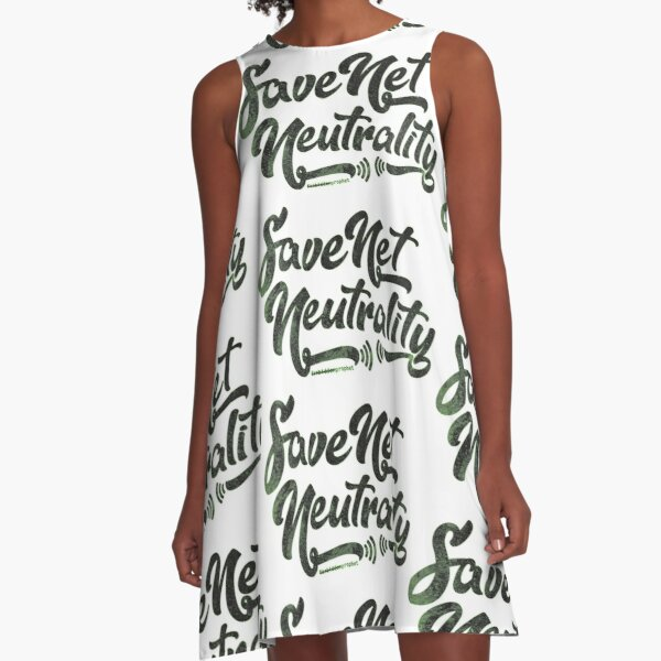 Save Net Neutrality A-Line Dress