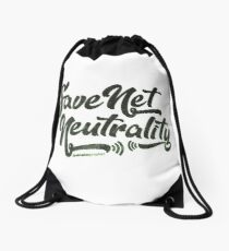 Save Net Neutrality Drawstring Bag