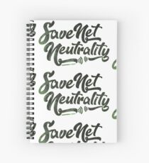 Save Net Neutrality Spiral Notebook