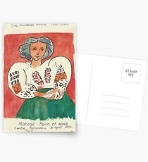 Postcards from Europe -  a study of Matisse Postcards