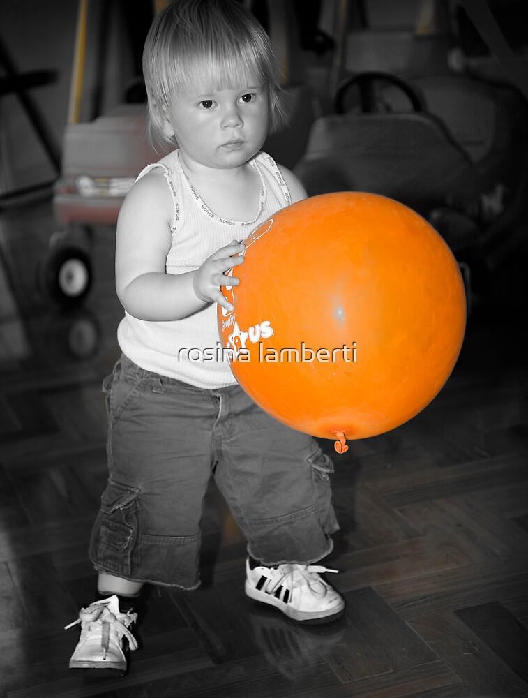 Orange balloon by Rosina  Lamberti