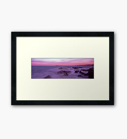 morning at dawn rock Framed Print