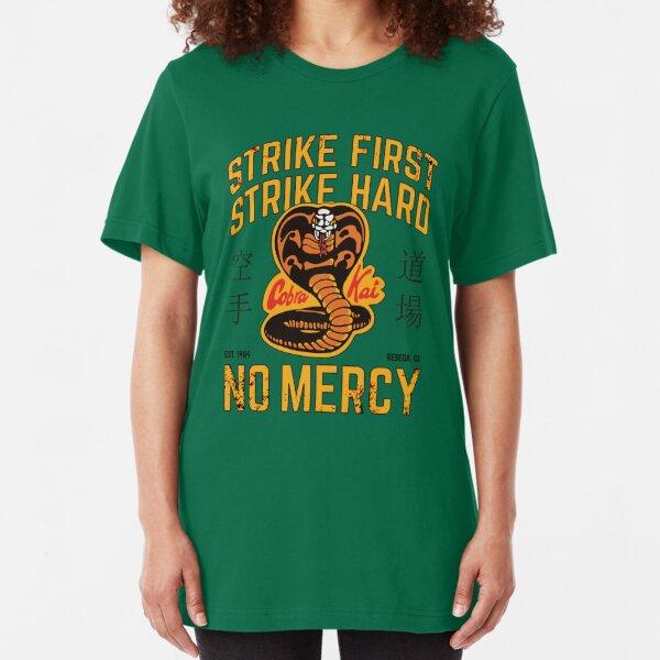Cobra Kai - Strike First, Strike Hard Slim Fit T-Shirt
