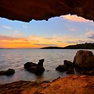 Dusk from a Cave by Mark Snelson