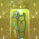 Pferd glitzer grün Horse glimmer green von Rhea Silvia Will