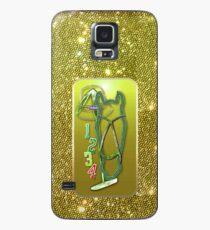 Pferd glitzer grün Horse glimmer green Hülle & Skin für Samsung Galaxy