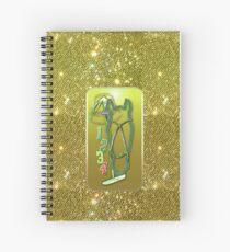 Horse glitter green Horse glimmer green Spiral Notebook