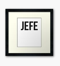Jefe AKA Bossman Framed Print