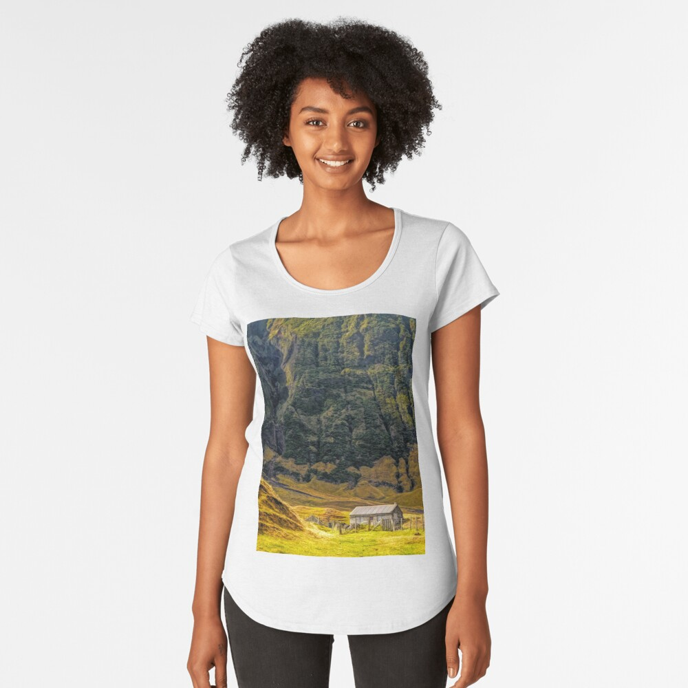 Cabin in the Wilderness Women's Premium T-Shirt Front