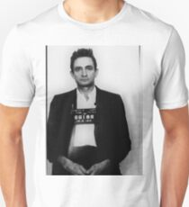 Johnny Cash Mug Shot Vertical Unisex T-Shirt