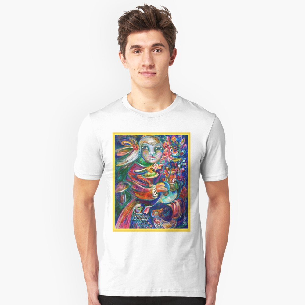 Orphan Child with Flowers Unisex T-Shirt Front