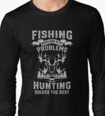 Funny Fishing and Hunting Long Sleeve T-Shirt