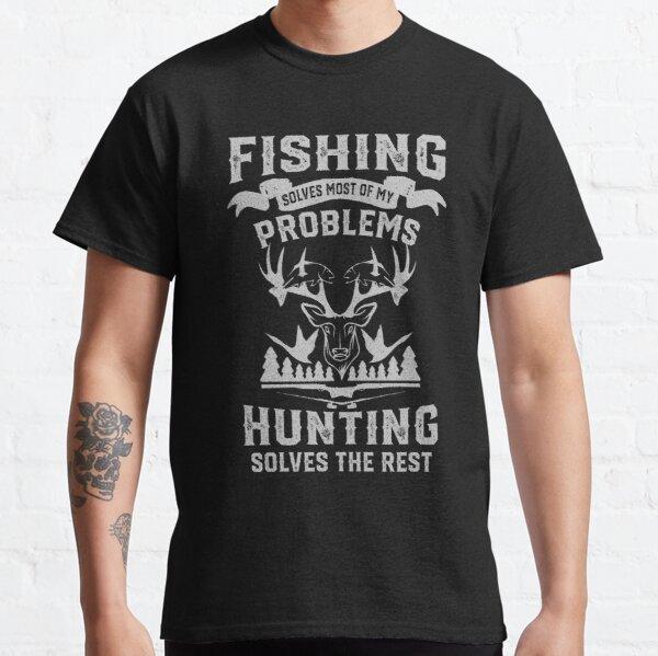 Pêche et chasse drôles T-shirt classique