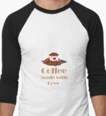 Coffee Made With Love Men's Baseball ¾ T-Shirt