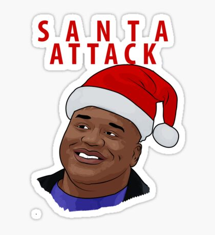 Santa Attack Sticker