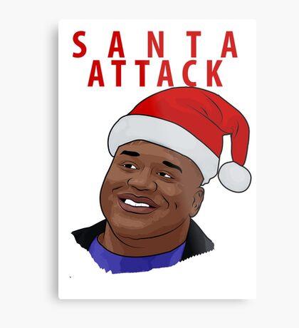 Santa Attack Metal Print