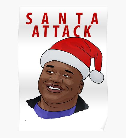 Santa Attack Poster