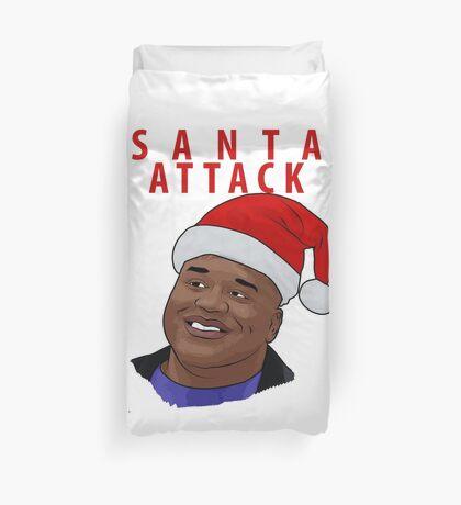 Santa Attack Duvet Cover