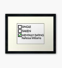 Mentally dating Nafessa Williams Framed Print