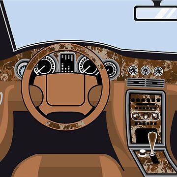 Car Interior wood trim by vectorworks51