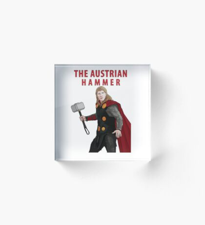 The Austrian Hammer Acrylic Block