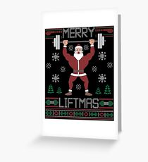 Merry Liftmas T-Shirt  Ugly Christmas Sweater Workout Shirt Greeting Card