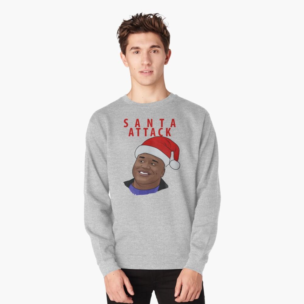 Santa Attack Pullover Sweatshirt