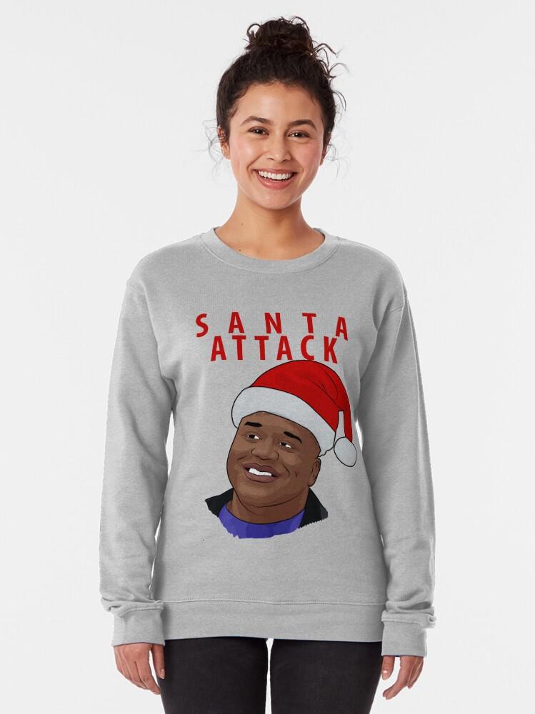 Alternate view of Santa Attack Pullover Sweatshirt