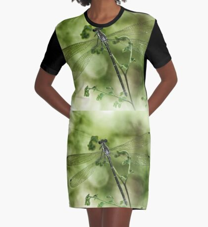 A tiny one hidden in the green by the pond Graphic T-Shirt Dress