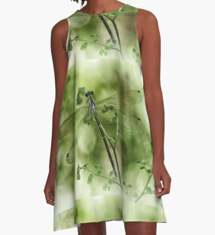 A tiny one hidden in the green by the pond A-Line Dress