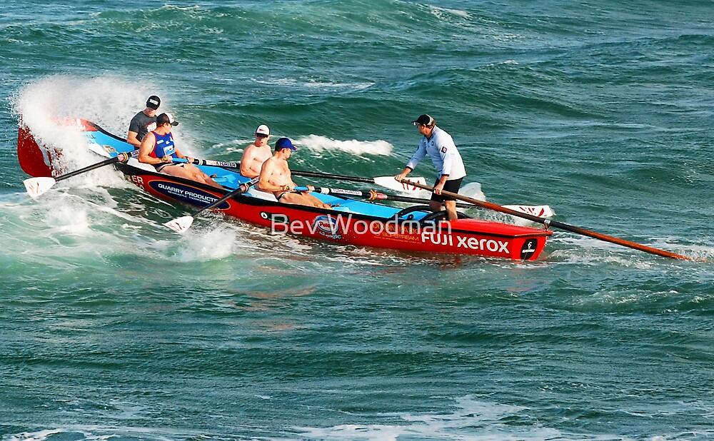 Dixon Park Surf Boat Crew - Swansea Channel NSW by Bev Woodman