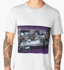 retro car engine engine Men's Premium T-Shirt
