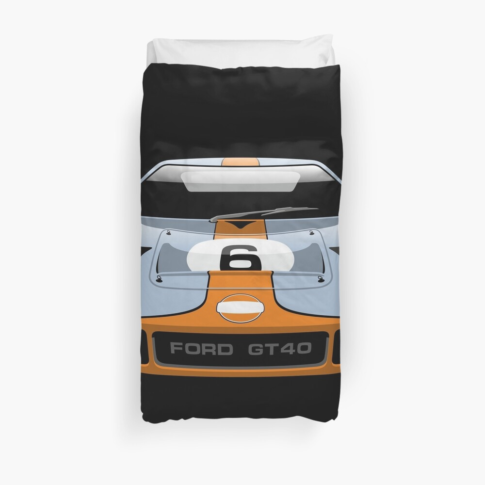 Ford GT 40 Gulf Racing livery Duvet Cover