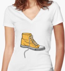 My Yellow Boot Women's Fitted V-Neck T-Shirt