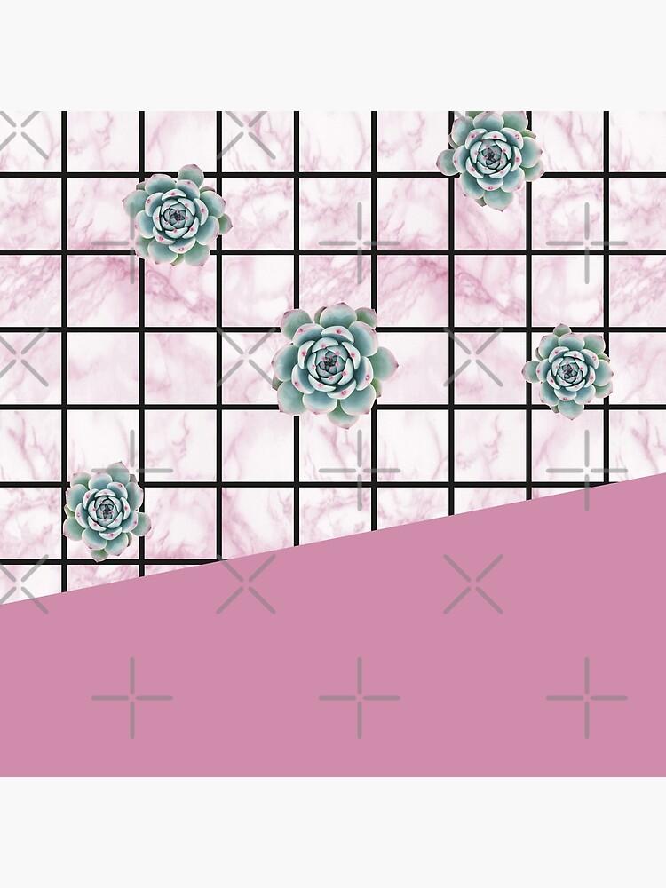 Succulents geometric composition - Antique Pink by PrintablesP